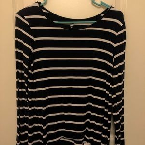 old navy blue and white long sleeve